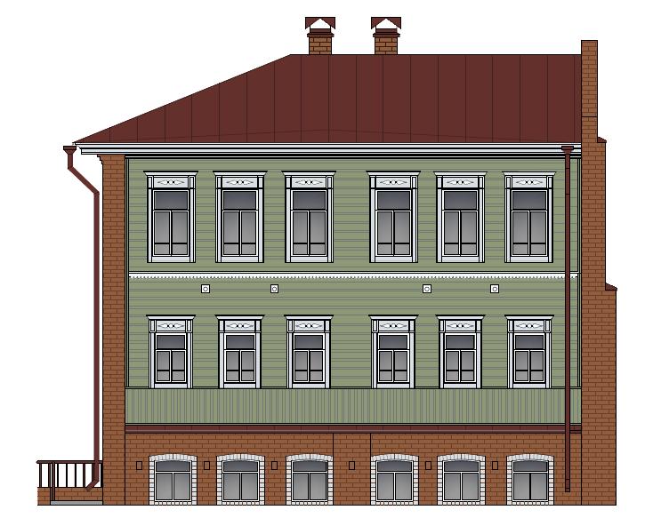 Кустарный фасад 1