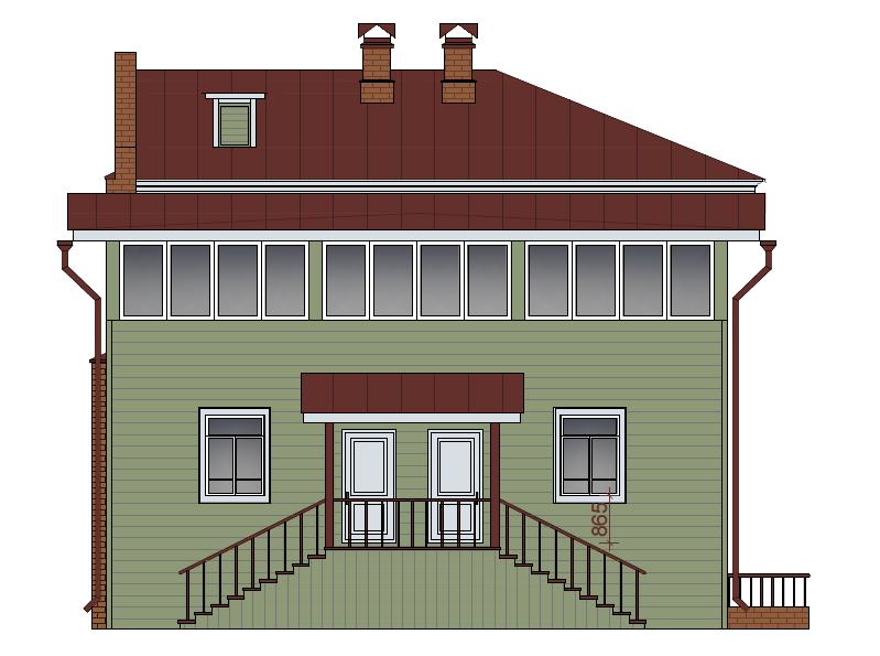 Кустарный фасад 4